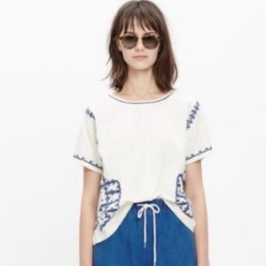 Madewell embroidered top